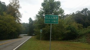 ellijay city limit sign